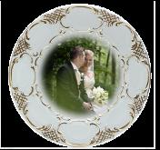 Tanier svadobný reliéfny - 19cm